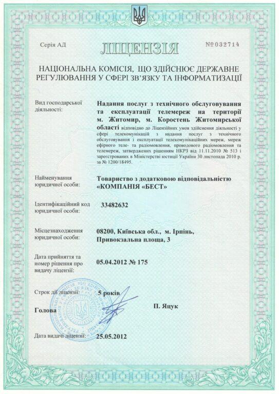 13 licenziya - Документи